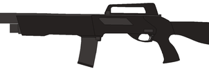 Derya Anakon Semi Automatic Shotgun by Wxodus
