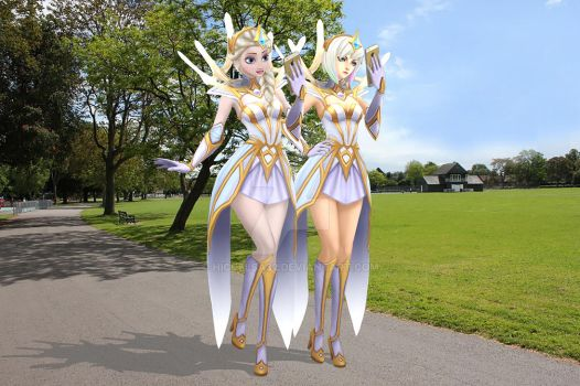 [MMD] Elsa and Lux: Treasure Hunting by HiccElsa32