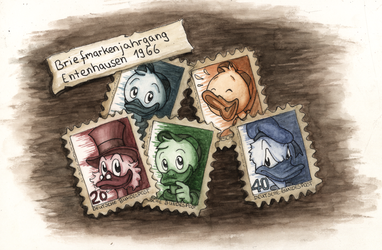 Duck Stamps by NoxaTheCat
