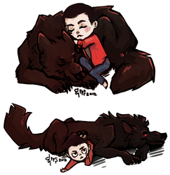 the adventures of stiles and the sourwolf by Lyere