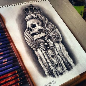 The queen tattoo design by Cleicha