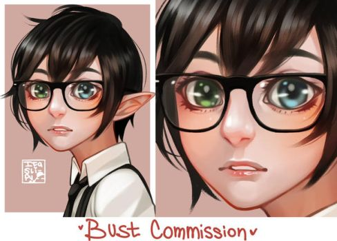 Bust commission by ItaSlipy