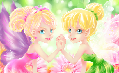 Thumbelina and Tinkerbell by ittolambo