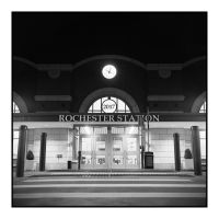 2017-333 Night at Rochester Station by pearwood
