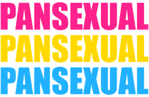 Pansexual  Typography by Pride-Flags
