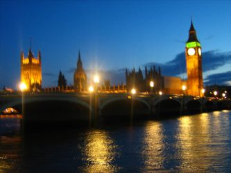 Houses of Parliament Night by Eszies-Eszie