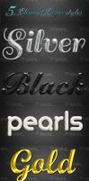 5 Elegant Layer Styles - Free Download by Textuts
