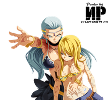 Aquarius and Lucy Render by NPkurosaki