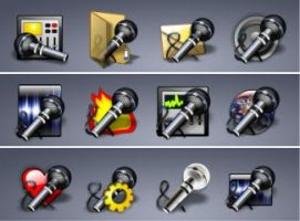 52 Microphone icons by zman3