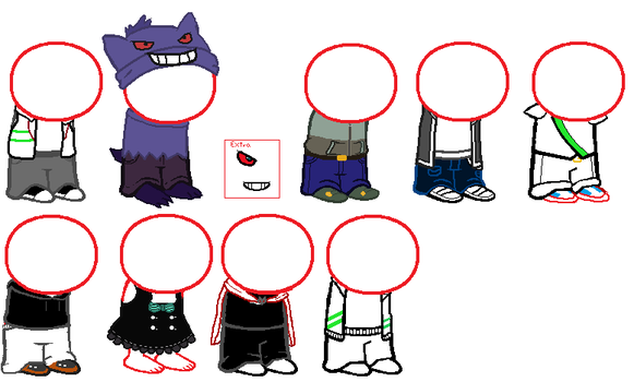 Homestuck sprite sheet non canon [Free to use] by Meganplit999