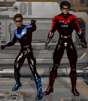Nightwing Blue And Red by KevIzz