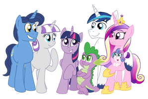 The Sparkle Family by CrazyNutBob