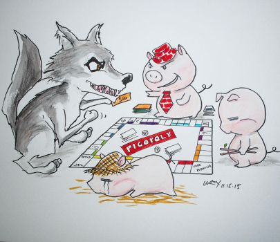 The Three Little Pigs by wrexjapan