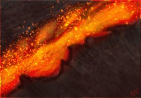 Lava Speed Paint Try by kornolho