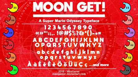 [OUTDATED] MOON GET!: A Super Mario Odyssey Font by MaxiGamer