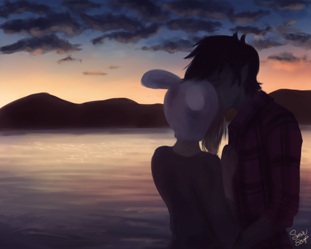 Fionna and Marshall Lee by SosinSoup