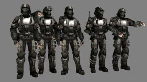 Halo 3 ODST Gang by advancedspartan