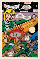 Lady Spectra and Sparky: Symbiotic Man pg. 13 by JKCarrier