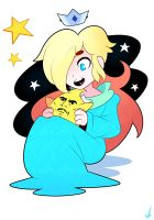 Rosalina and Small Star Man by kuprite