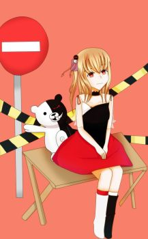 Monokuma no keep out by sakihellish13