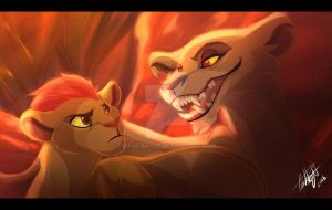 Lions over all... by Mask-Katze