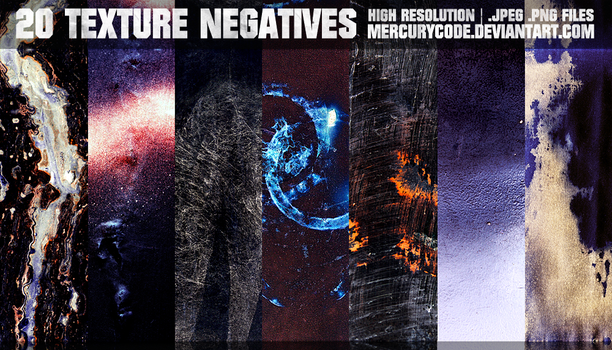 Texture Pack 07: Negatives [HI RES] by mercurycode