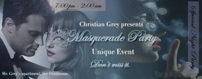 50 Shades of Grey - Masquerade Party Ticket Invite by md-photoshops