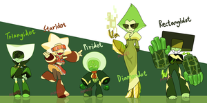 All shapes of Peridot Adoptions (Closed) by JewelryMan
