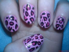 Pink Leopard Nail Design by AnyRainbow