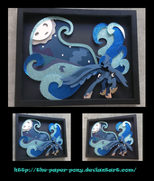 11 x 14 2015 Everfree Exclusive Luna Shadowbox by The-Paper-Pony