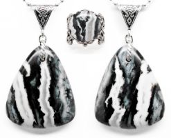 Zebra Agate Pendant and Ring by par-me