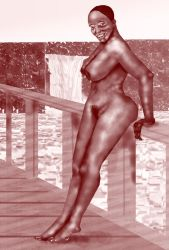 Nubian 7 Sepia Tone Nude by val65000