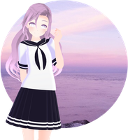 [MMD] Cham School Uniform (Thanks for 450+) (DL) by kiraAnima
