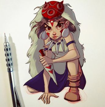 Princess Mononoke by ChrissieZullo