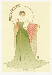 'Holly' Art Deco Christmas Card 2017 by MyBeautifulMonsters