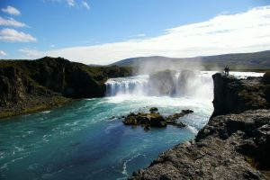 Waterfall of Godafoss by Mittelfranke