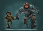 The hound and... no one by AlanSantanaChaves