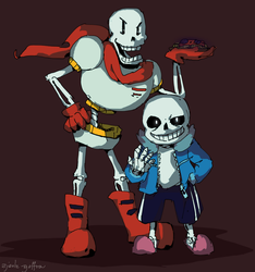 Undertale: Papyrus and Sans by zjedz-goffra