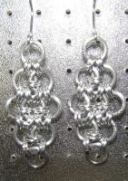 Chainmaille Earring 29 by Des804