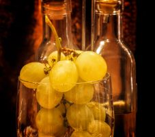 Grapes and bottles. by jennystokes