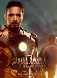 Captain America: Civil War (Duo 2 Poster) by Enoch16