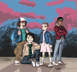 stranger things main kids by Sandra-delaIglesia