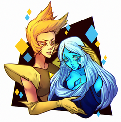 Blue and Yellow Diamond's by Hao-S