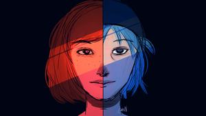 Life is Strange Fanart -  Red And Blue by ChrisN-Art