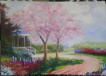 Morning Dogwoods by lidianne