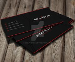 RedLine Corporate Business Card by GreyFoxGR
