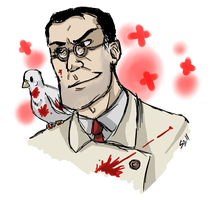 Sketch Medic and Archimedes by BUBBLE89