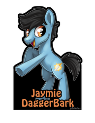 Jaymie DaggerBark OC Badge by DaggerBark