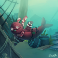 Just Keep Swimming by TheQueenOfNeckbeards