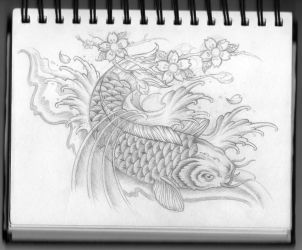 Koi Carp Tattoo Design by Frosttattoo